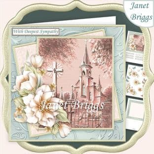 SYMPATHY CHURCH & FLORALS 7.5 Decoupage Card Kit digital download