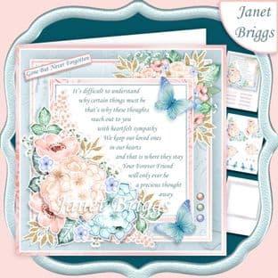 SYMPATHY VERSE in Pastels 7.5 Decoupage Card Kit digital download