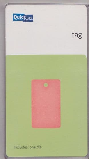 TAG (RECTANGLE) QUICKUTZ SINGLEKUTZ DIE RS-0483
