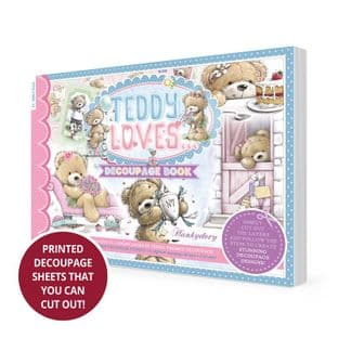 Teddy Loves Hunkydory A5 Decoupage Book 72 pages Require Cutting