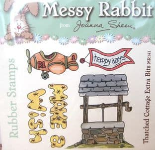 THATCHED COTTAGE EXTRA BITS - MESSY RABBIT RUBBER STAMPS JOANNA SHEEN