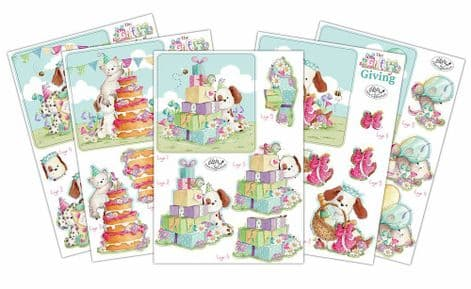 The Gift of Giving  10 Sheets 3D Decoupage Set Craft Consortium