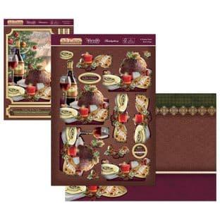 The Joy of Christmas Hunkydory Deco-Large - A Festive Feast Decoupage Kit