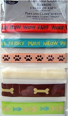 THE PAPER COMPANY - PAWS & CLAWS - RIBBON 6 yards