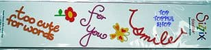 TOO CUTE FOR WORDS SIZZIX SIZZLITS DECORATIVE STRIPS