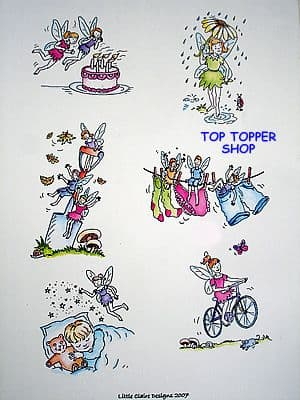 TOPPERS, FAIRIES DESIGN SHEET by LITTLE CLAIRE DESIGNS