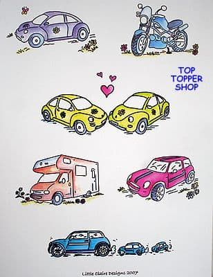 TOPPERS, TRANSPORT DESIGN SHEET by LITTLE CLAIRE DESIGNS