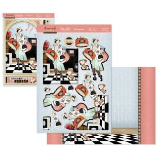 Treat Yourself - The Golden Age of Glamour Hunkydory Die Cut Decoupage Kit