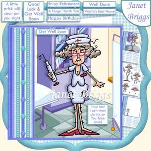 TRUST ME I SAW THIS ON YOU TUBE 7.5 Get Well Decoupage  Card Kit digital download