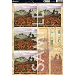 TUSCAN VISTAS - AGRITURISMO DECOUPAGE KANBAN 1259