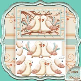 TWEETHEARTS Wedding, Anniversary, Bird-day Decoupage digital download