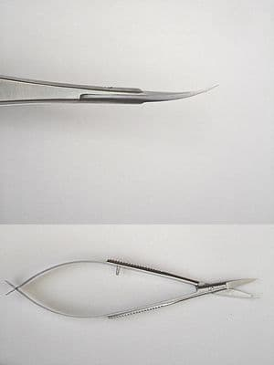 TWEEZER SCISSORS - CURVED - FOR DECOUPAGE