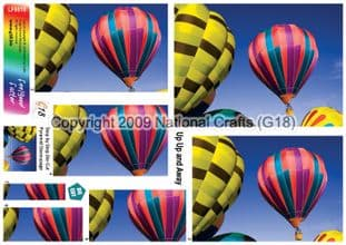 UP UP AND AWAY BALLOONS DIE CUT PYRAMID DECOUPAGE FROM G18