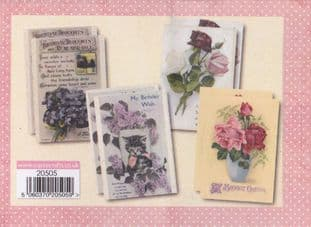 VINTAGE BLOOM 1 8 FLORAL QUICK TOPPERS