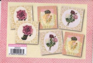 VINTAGE BLOOM 2  6 FOILED FLORAL QUICK TOPPERS