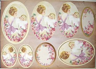 VINTAGE LADY LILIAN DIE CUT PYRAMAGE & CARD TOPPERS KANBAN 8176