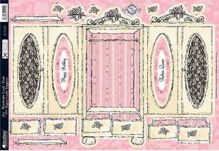 WARDROBE CARD PINK KANBAN PCT1419