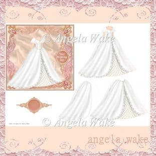 WEDDING DRESS Decoupage sheet AW50
