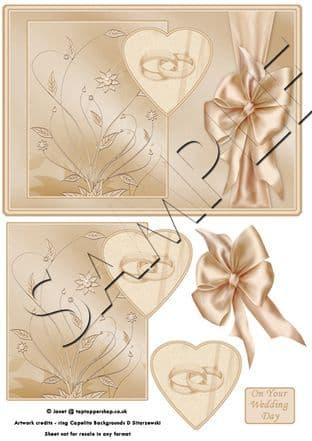 WEDDING RINGS CARD TOPPER  digital download