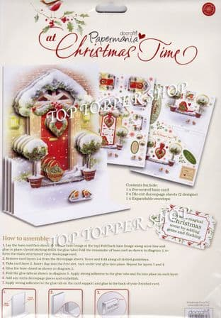 Welcome Home At Christmas Time  Papermania Luxury A5  3d Card Kit