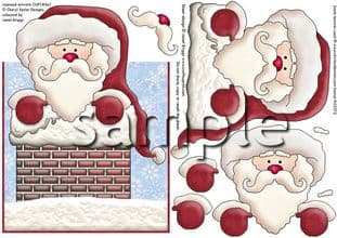 WHEN SANTA GOT STUCK UP THE CHIMNEY over the edge card printed sheet 303