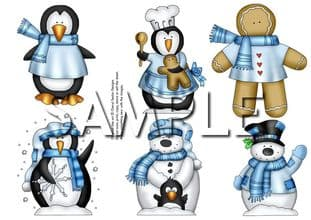 Winter Friends Exclusive Clipart Toppers Printed Sheet