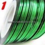Cinta fina decoración color 01 - verde