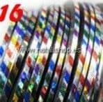 Cinta fina decoración color 16 - arco iris
