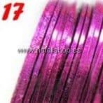 Cinta fina decoración color 17 - fucsia con destellos