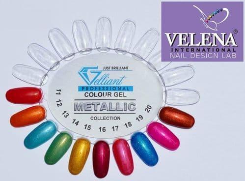 Gelliant colour gel palette metallic collection