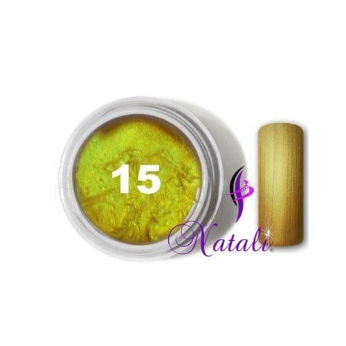 Gelliant UV/LED Metallic Col. Color nº 15 Inca Gold de 5 ml.