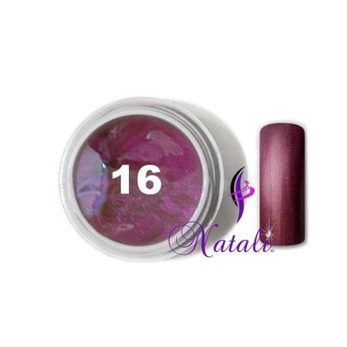 Gelliant UV/LED Metallic Col. Color nº 16 Dark Violet de 5 ml.