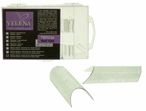 VELENA White tips (100 pcs, Box) French_pro_Clear (PS400 CK)