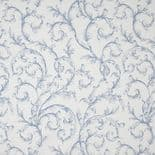 Fontainebleau Fabric Arabesque Reina Blanc FONT81786521 or FONT 8178 65 21 By Casadeco