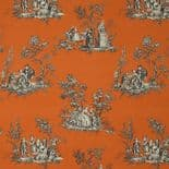 Fontainebleau Fabric Scene Reina Lin FONT81733109 or FONT 8173 31 09 By Casadeco