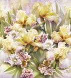 Blumarine Home Collection No. 2 Wallpaper Panel Magia di Iris Crystal BM25235 or 25235 By Emiliana For Colemans
