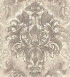 Blumarine Home Collection No. 2 Wallpaper Panel Sogno Barocco Tortora Crystal BM25207 or 25207 By Emiliana For Colemans