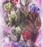 Blumarine Home Collection No. 2 Wallpaper Panel Tulipani Crystal BM25229 or 25229 By Emiliana For Colemans