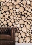 Global Fusion Wallpaper Mural Logs G45275 By Galerie