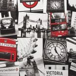 Individual Fresco London Montage Black/Red Wallpaper 50-841 By Graham & Brown
