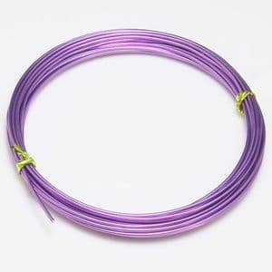 Aluminium wires, Aluminium, Light purple, 5m [approximate], Diameter 1.5mm, [TDA0052]