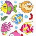 Bathroom and Window stickers, Plastic, Assorted colours, 56cm x 21cm, 1 sheet, (JDC212)