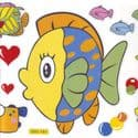 Bathroom and Window stickers, Plastic, Assorted colours, 56cm x 21cm, 1 sheet, (JDC391)