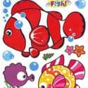 Bathroom and Window stickers, Plastic, Assorted colours, 56cm x 21cm, 1 sheet, (JDC432)