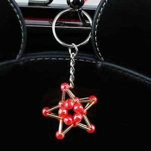 Bead keyring kit, Burgandy, 5-pointed star, Approx. size of completed item 3.5cm x 3.5cm, [ZCZ0036]