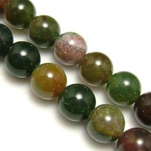 Beads, Gemstone, Agate, Assortment colours, Round shape, Dia 12mm, 30cm strand, 30 Beads, (SJZ0001)
