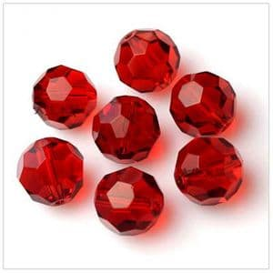 Beads, Glass, Burgandy , Faceted Rounds, Diameter 6mm, 10 Beads, [ZZF0004]