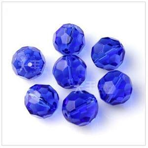 Beads, Glass, Dark blue , Faceted Rounds, Diameter 6mm, 10 Beads, [ZZF0003]