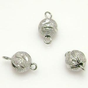 Beads, High quality metal alloy, Silver colour, 8mm x 15mm, 5 Beads, (ZSL0016)