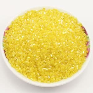 Beads, Seed beads, Glass, Yellow, Cylindrical, 2mm x 2mm, 25g, 1700 Beads, (SSG047)